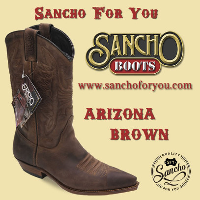 Sancho Boots Arizona Brown. Botas Cowboy