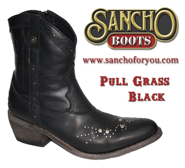 Sancho Boots Pull Grass Black