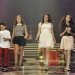 "PAULA ROJO in the ""LA VOZ Kids"" Final with her Sancho Boots White Eagle"